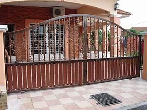 Boundary Wall Gate Design Modern Wooden Fence Furniture