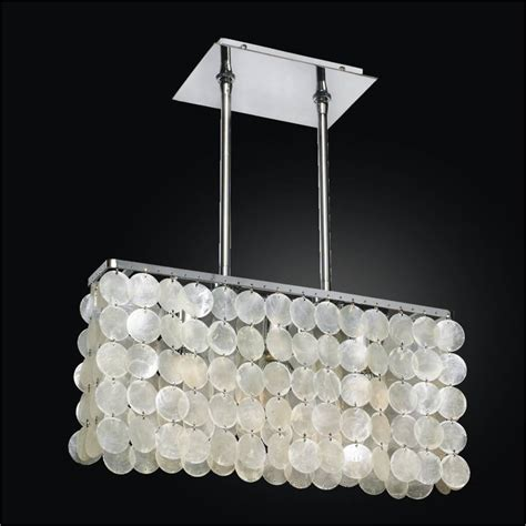 rectangular capiz shell chandelier surfside 637 glow