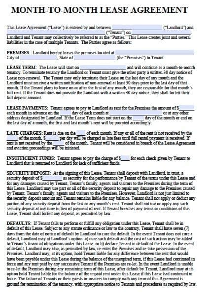 New Mexico Lease Agreement Template