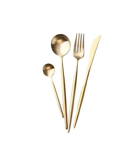 accessories flatware kitchen modern mydomaine minimalist amazon jinsen stainless steel secret matte gold