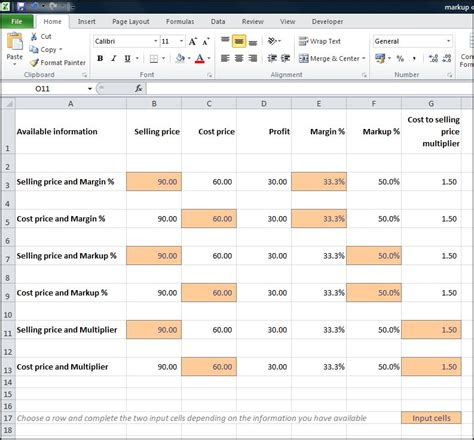 markup calculator double entry bookkeeping