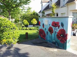 murs de jardin terrasses decoration graffiti hard deco With decoration pour mur exterieur de jardin