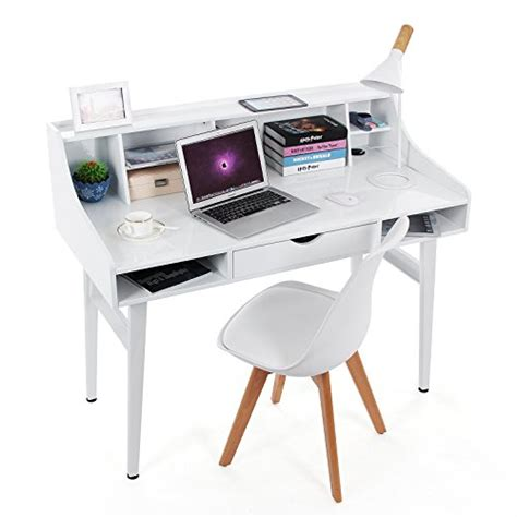 grand bureau informatique songmics bureau informatique coiffeuse table de maquillage