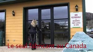 porte de garage pieton vitree youtube With porte de garage vitrée