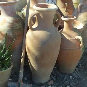 Jarre Terre Cuite Grande Taille : jarre de jardin en terre cuite avec deux anses artisanat ~ Dailycaller-alerts.com Idées de Décoration