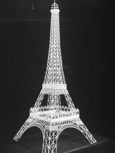 Eiffel Tower Made Out of Toothpicks