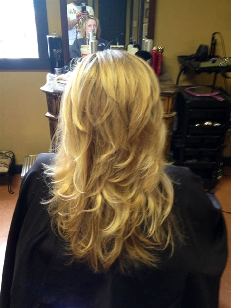 Another long hair short layer blowout Short layers long