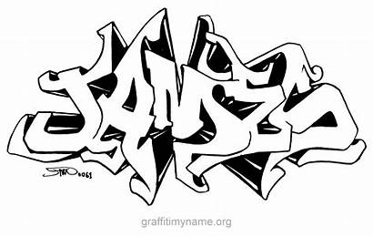 Graffiti James Letters Bubble Draw Drawn Drawing
