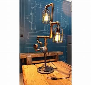Lampe à Poser Industriel : lampe poser tube compteur vintage industriel ~ Teatrodelosmanantiales.com Idées de Décoration