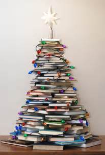merry vintage syle how to make a tree with books