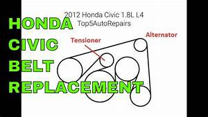 2012 Honda Civic 1 8 Liters Serpentine Belt Routing