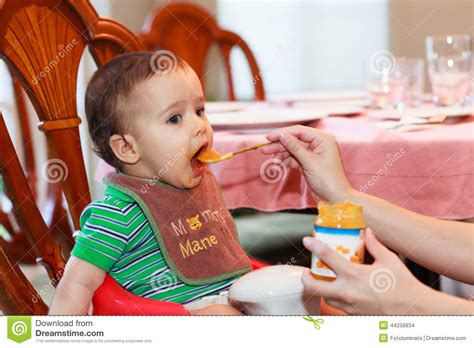 Hungry Baby Boy With Tongue Out Stock Photo