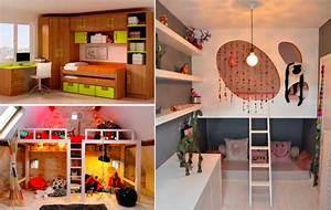 32 idees afin d39optimiser l39espace d39une petite chambre d With petite chambre d enfant