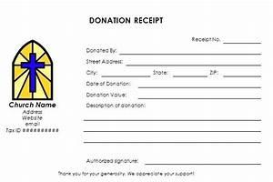 Donation letter receipt church donation receipt form for Church donation letter for tax purposes