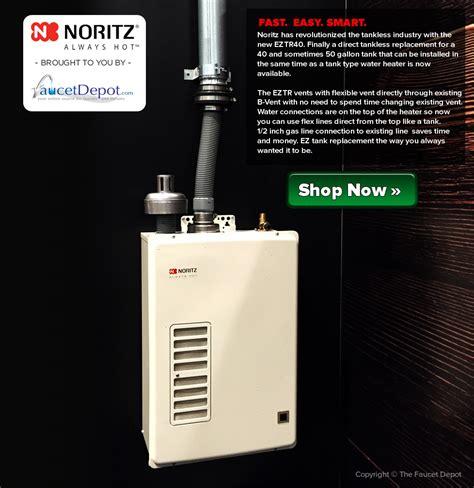 noritz eztr tankless water heater  revolutionary  gallon replacement