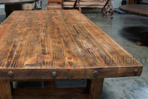 Farm Style Chairs by Chef S Block Old Wood Table Demejico