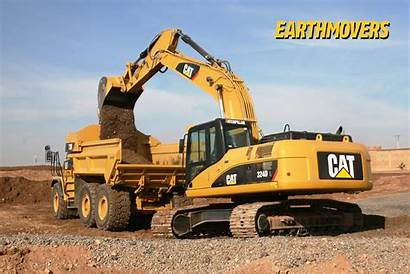 Excavator Caterpillar Digger Wallpapers Desktop Komatsu Cat