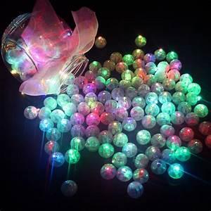 100 Pcs/lot Round Ball Led Balloon Lights Mini Flash Lamps
