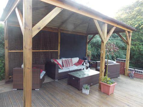 grande open wooden gazebo xm