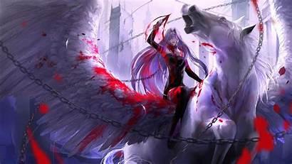 Waifu Wallpapers Fate Anime Medusa Rider Pegasus