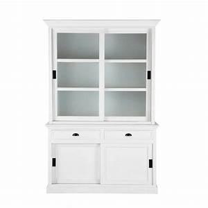 Vaisselier En Pin : vaisselier en pin blanc l 145 cm newport maisons du monde ~ Teatrodelosmanantiales.com Idées de Décoration