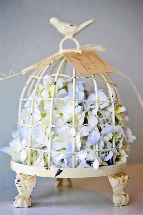 Flowers Arrangements with Bird Cage
