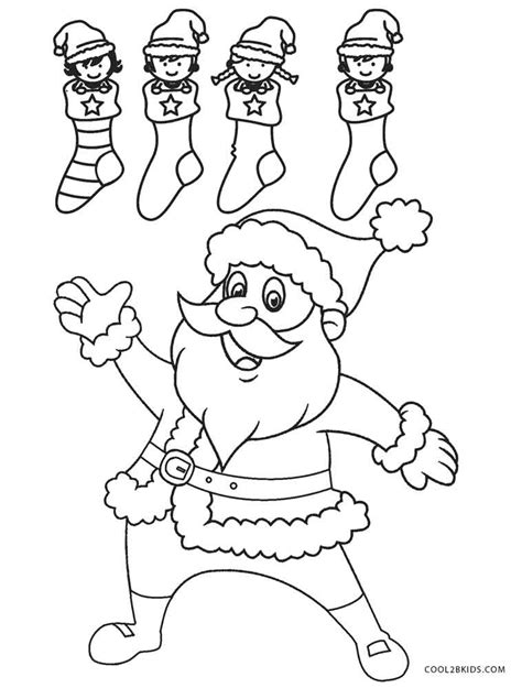 Free Coloring Pages by Free Printable Santa Coloring Pages For Cool2bkids