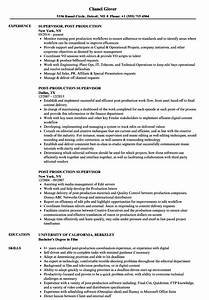 fine production supervisor resume pictures inspiration With resume samples for supervisor positions