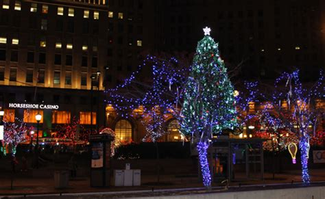christmas lights  cleveland public square