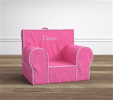 pin dot anywhere chair slipcover bright pink pin dot anywhere chair pottery barn