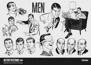 1960s Men | Vintage Vectors | Vintage Clip Art | Retro ...