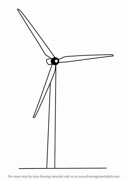 Windmill Draw Electric Drawing Step Windmills Tutorials