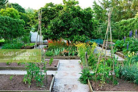 Gap Gardens  Formal Kitchen Garden With Central Medlar