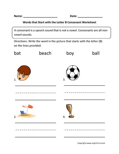 consonants worksheets breadandhearth