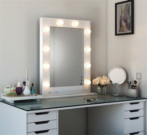 tall vanity mirror with lights high gloss tall led hollywood mirror white high gloss