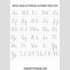Calligraphy Practice2pdf  Crafts & Diy  Hand Lettering Practice, Hand Lettering Alphabet