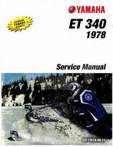 Gs 340 Yamaha Snowmobile Service Manual