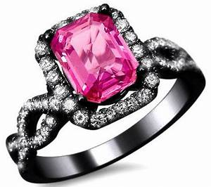 black and pink engagement rings for women wedding and With pink wedding rings for women