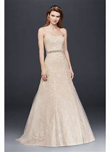 jewel lace a line wedding dress with beaded detail david With beaded a line wedding dresses