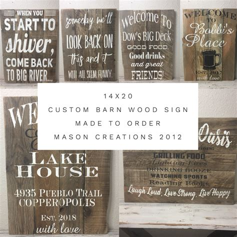 hand crafted  custom multi board barn wood sign