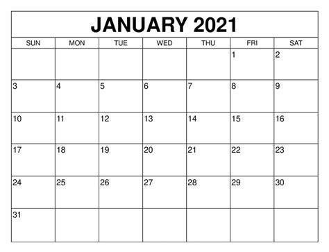 blank january  calendar editable  format