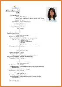 Curriculum Vitae Europass Portugues Exemplo Example Good Resume