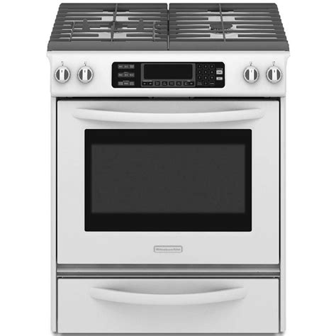 kitchenaid ranges architect series ii 30 in 4 1 cu ft slide in gas range with self cleaning