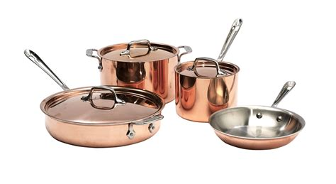 copper cookware some different types pan pot skillet and more