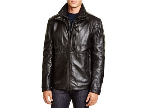 Marc New York Mercer Classic Leather Jacket In