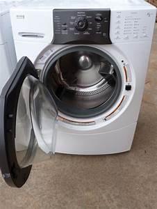 Kenmore Washer Machine Gas Dryer Set Front Loader White