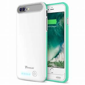 Atomic Pro Battery Case For Iphone 7 Plus  U2013 White  Turquoise