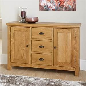 Wiltshire Wide Sideboard Furniture, Oak Furniture