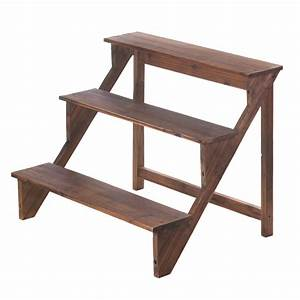 Wooden Steps Plant Stand Wholesale at Koehler Home Decor