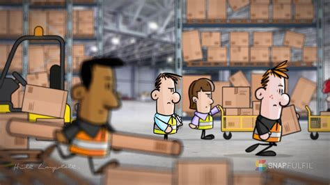 Cartoon Animation For Warehouse Management